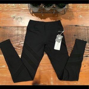 NWT X by Gottex Black Mesh leggings - XS